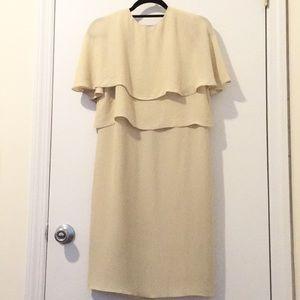 Lanvin Cream Silk Cocktail Dress